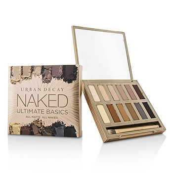 Naked Ultimate Basics Eyeshadow Palette: 12x Eyeshadow, 1x Doubled Ended Blending and Smudger Brush-