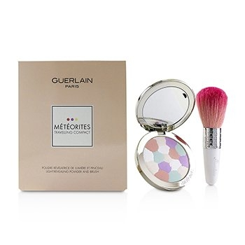 Meteorites Travelling Compact Light Revealing Powder And Brush - (2 Clair/Light)2pcs