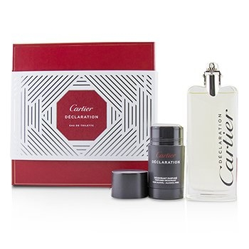 Declaration Coffret: Eau De Toilette Spray 100ml/3.3oz + Deodorant Stick (Alcohol Free) 75ml/2.5oz2pcs